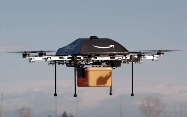 drones amazon envío paquetería