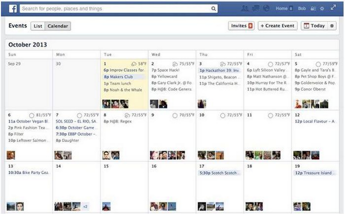 empresas eventos en Facebook