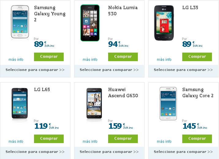 catálogos de ofertas online - móviles