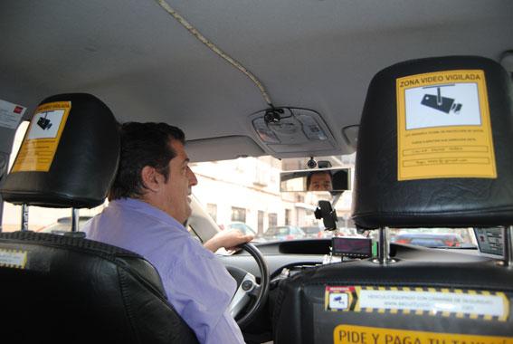 cámaras de vigilancia en taxis