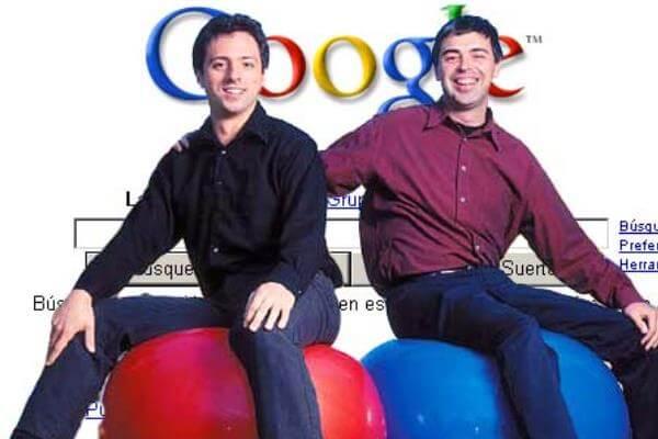 Quién fundó Google - Larry Page y Sergei Brin